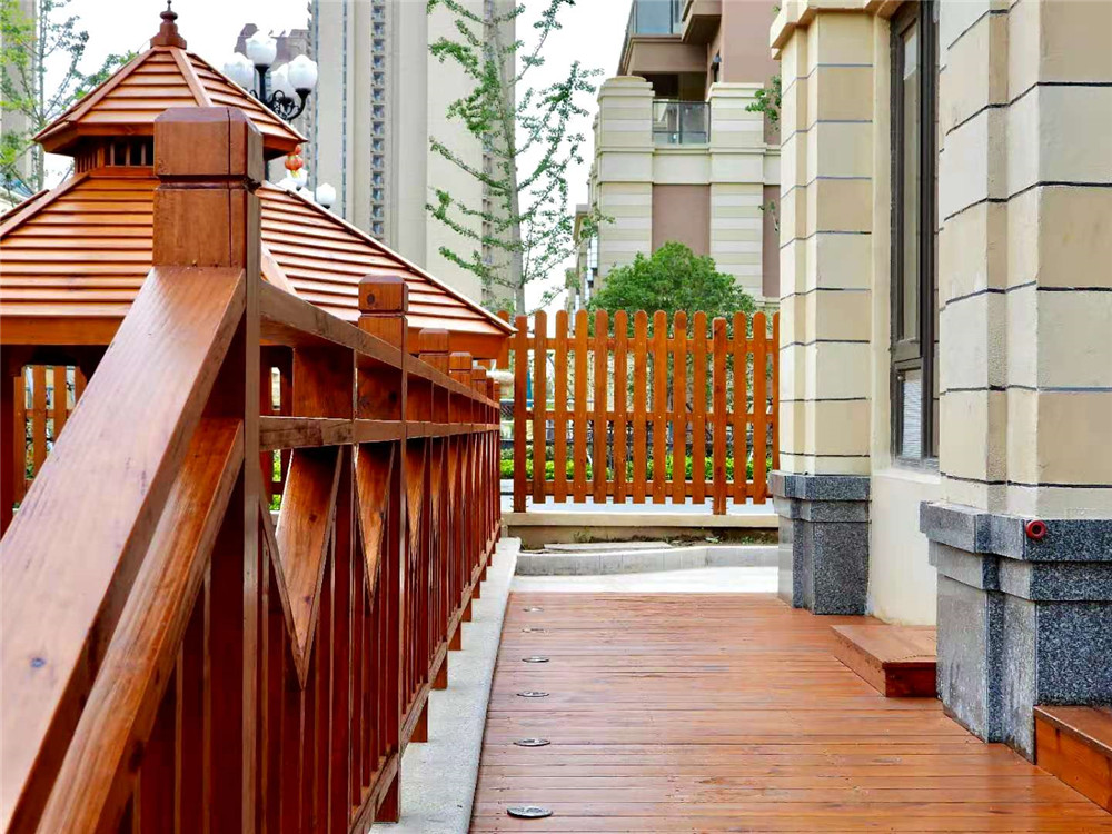 海上威尼斯防腐木凉亭平台栏杆